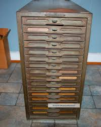 vintage industrial remington rand kardex metal file cabinet 16
