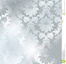 damask wrapping paper vector baroque seamless damask silver texture stock vector