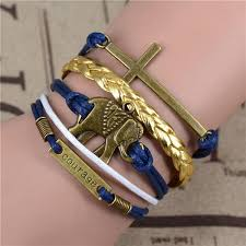 anchor leather bracelet man images Infinity anchor hook artificial leather bracelet men women jpg