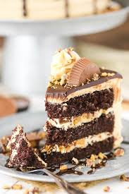peanut butter chocolate layer cake love sugar