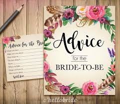 bridal advice cards advice for the to be advice for the newlywed printable