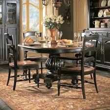 Black Dining Room Chairs Indigo Creek Pedestal Dining Table By Hooker Furniture