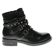 womens wide motorcycle boots nylah womens flats low heels studded biker ankle boots ladies