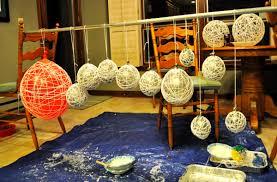 diy string chandeliers ruffled