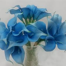 blue lilies online shop tuquoise calla bouquet 9 stems mini calla