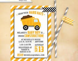 construction baby shower baby construction shower invi on custom construction baby