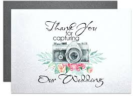 thank you for capturing our wedding card for wedding photographer