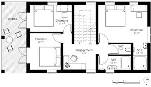 plan etage 4 chambres plan de maison avec etage 3 chambres gratuit 14 bioclimatique 1