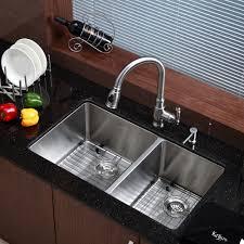 kitchen sink and faucet sets 35 photos gratograt