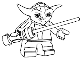 print lego star wars yoda coloring pages or download lego star