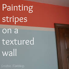 Texture Wall Paint by How To Paint Stripes On A Textured Wall Creative Ramblings