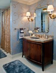 blue and brown bathroom ideas ivory granite bathroom traditional with brown shower