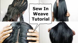 best wayto have a weave sown in for short hair watch me do full sew in weave no leave out no glue tutorial