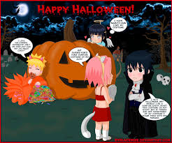 anime happy halloween greeting card happy halloween by byblackrose on deviantart