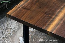 live edge table chicago bookmatched black walnut live edge table on black steel legs