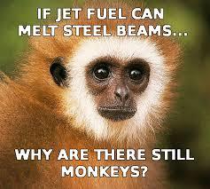Melting Meme - monkeys and steel beams jet fuel can t melt steel beams know