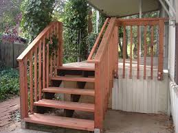 deck stair landing designs trex deck landing cascading steps with