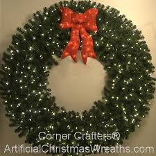 lighted christmas wreath 72 inch l e d lighted christmas wreath cornercrafters