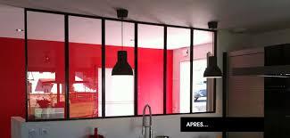 pose cuisine lapeyre verrière d intérieur et verrière d atelier d artiste sur mesure