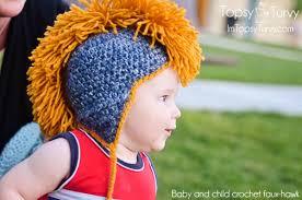 crochet hair mohawk pattern crochet mohawk hat pattern free ashlee marie