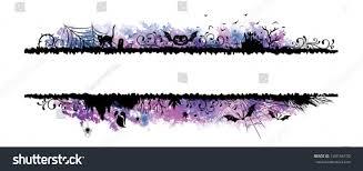 set halloween borders watercolor elements stock vector 149156192