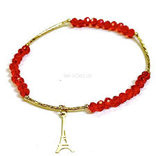 crystal charm bracelet beads images Raf rossi gold plated eiffel tower red crystal bracelet jpg