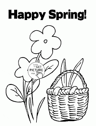 happy spring season coloring page for kids seasons coloring pages