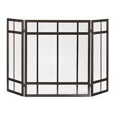 shop allen roth craftsman style fireplace screen at lowes com