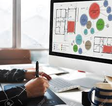 office floor plan sketch drawing concept stock photo picture and