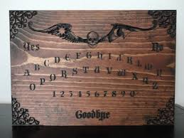 wooden ouija board carved in pine wall art occult black magic