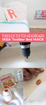 a diy tufted headboard an ikea hack for a toddler bed