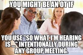 Occupational Therapy Memes - you might be an occupational therapy practitioner if checking