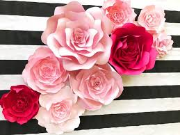 paper flowers kate spade inspired paper flower wall decor large paper flower