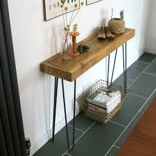 Hallway Table by Bespoke Order Rustic Hairpin Leg Console Table Or Hallway Table