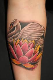 lotus and swan by jacob tattooart on deviantart