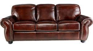 Reddish Brown Leather Sofa 999 99 Brockett Brown Leather Sofa Classic Traditional