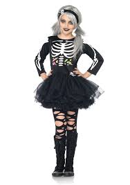 scary girl costumes scary skeleton child girl costume by leg avenue costumes