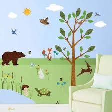 theme wall animals wall decals wall decor the home depot