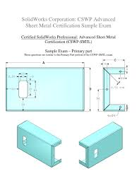 cswp advanced sheet metal certification sample exam