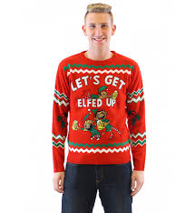 let s get elfed up drunken elves sweater