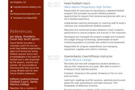 Football Coach Resume Sample by Head Coach Resume Sample Reentrycorps