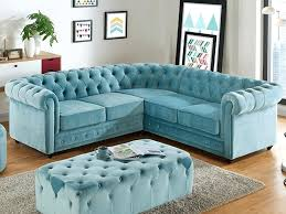 canape angle bleu canape angle velours canapac dangle en velours chesterfield bleu