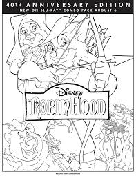 robin hood coloring page robin hood movie night disney movie