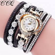 bracelet montre images Ccq marque de mode de luxe femmes strass bracelet montre dames jpg