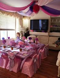 rent table and chairs for party princess sofia kids part table set up sofia the kids party