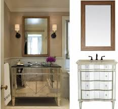 mirror ideas for bathroom bathroom wood framed bathroom mirror ideas with double wall sconces