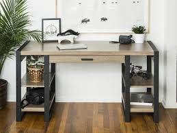 walker edison urban blend computer desk urban blend 60 storage desk walker edison