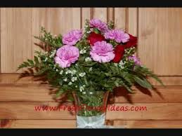 How To Arrange How To Arrange Roses And Carnations In A Vase Youtube