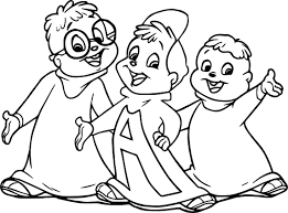 draw chipmunks coloring wecoloringpage