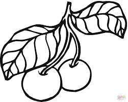 cherry coloring pages free coloring pages